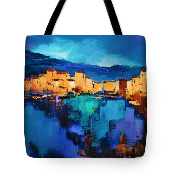 Sunset Over The Village 3 By Elise Palmigiani Tote Bag by Elise Palmigiani