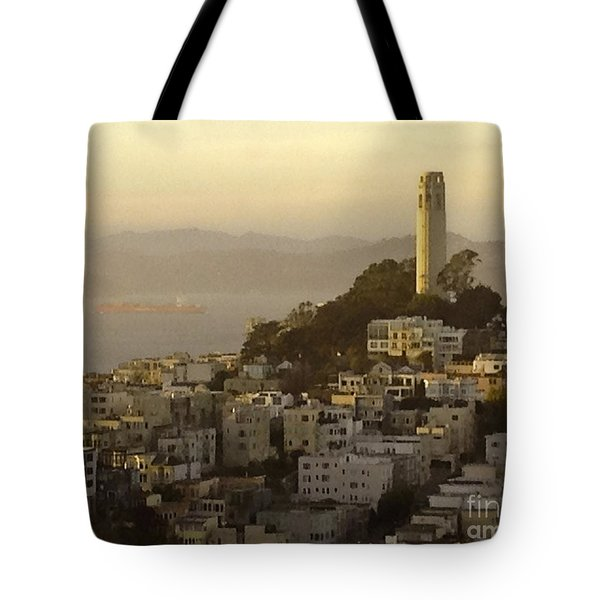 Sunset Over The Water Tote Bag