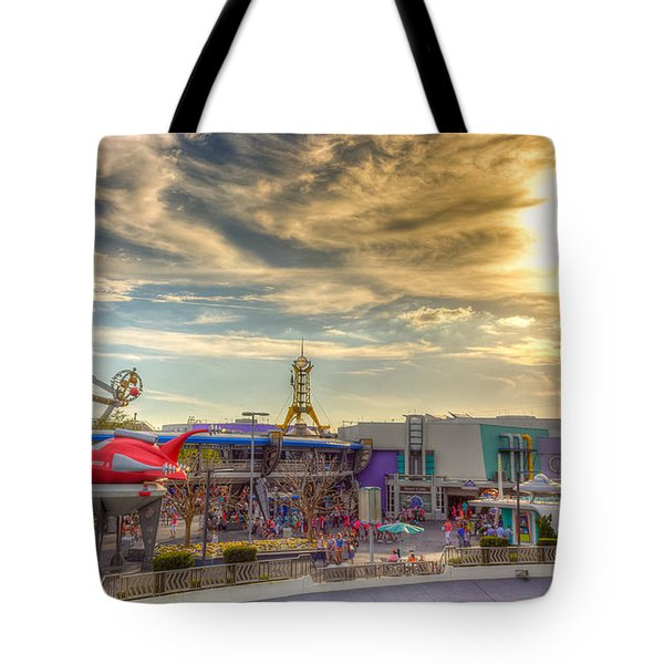 Sunset Over Tomorrowland Tote Bag