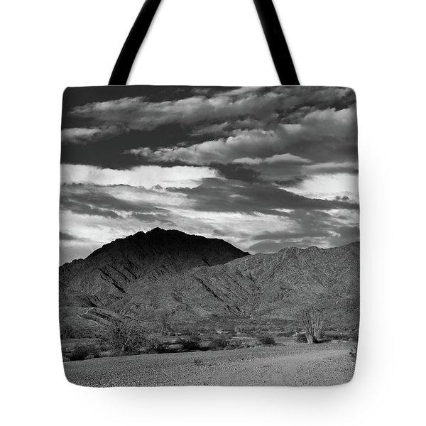 Sunset Over Yuma Mountain Tote Bag