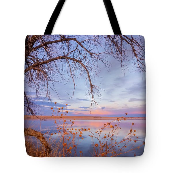 Tote Bag featuring the photograph Sunset Overhang by Darren White