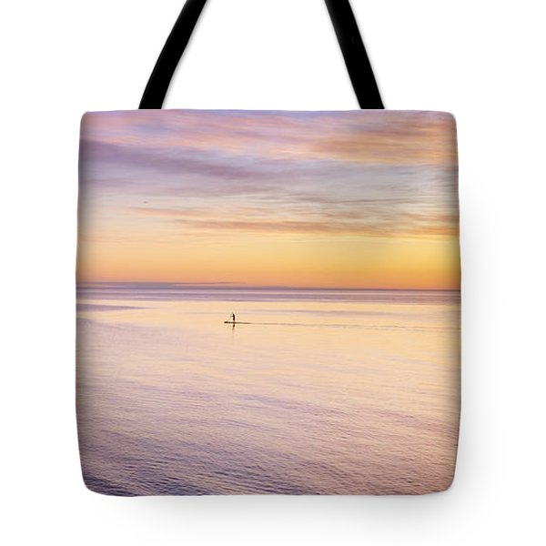 Tote Bag featuring the photograph Sunset Paddle by Ray Warren