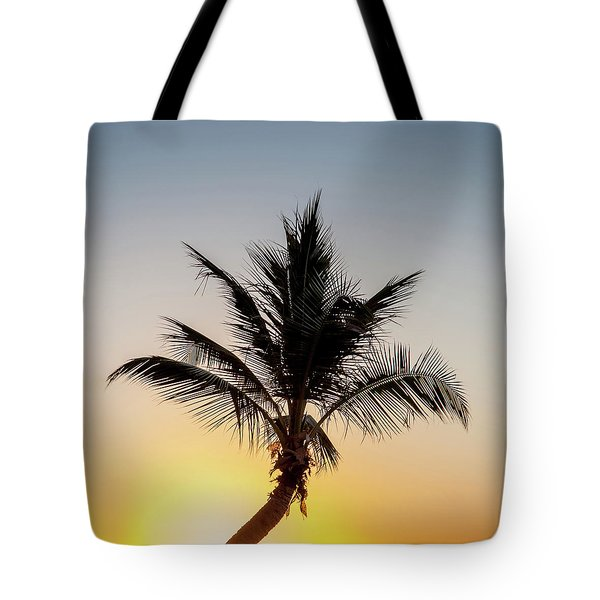 Tote Bag featuring the photograph Sunset Palm by Az Jackson