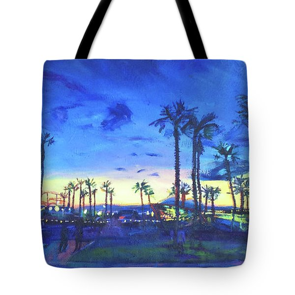 Sunset Palms Santa Monica Tote Bag