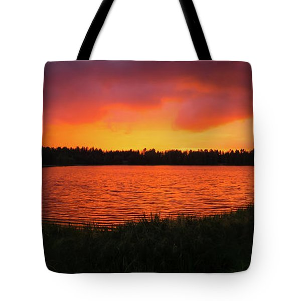 Sunset Panorama Tote Bag by Teemu Tretjakov