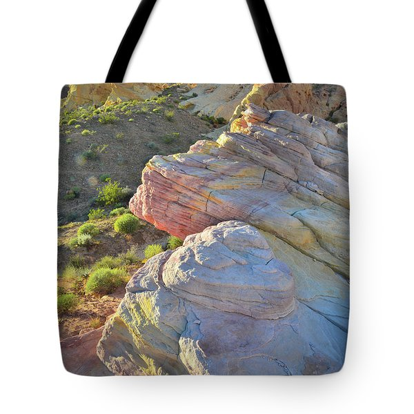 Sunset Pastels In Valley Of Fire Tote Bag