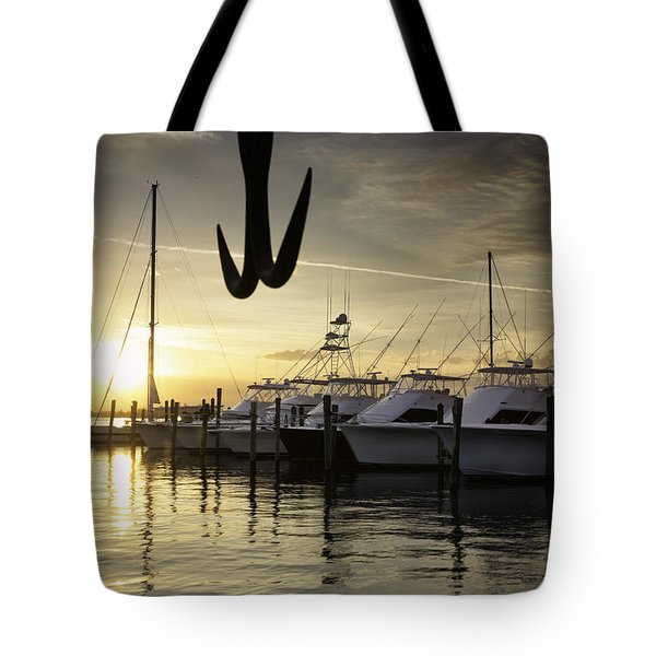 Sunset, Pelican Island Yacht Club Tote Bag