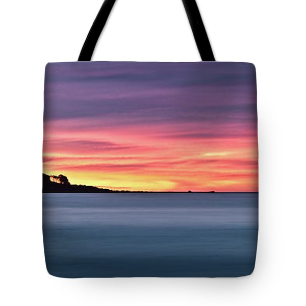Tote Bag featuring the photograph Sunset Penisular, Bunker Bay by Dave Catley