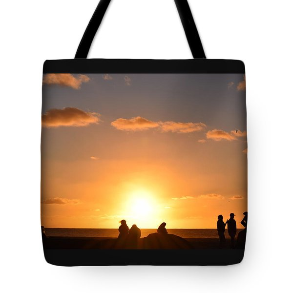Sunset People In Imperial Beach Tote Bag
