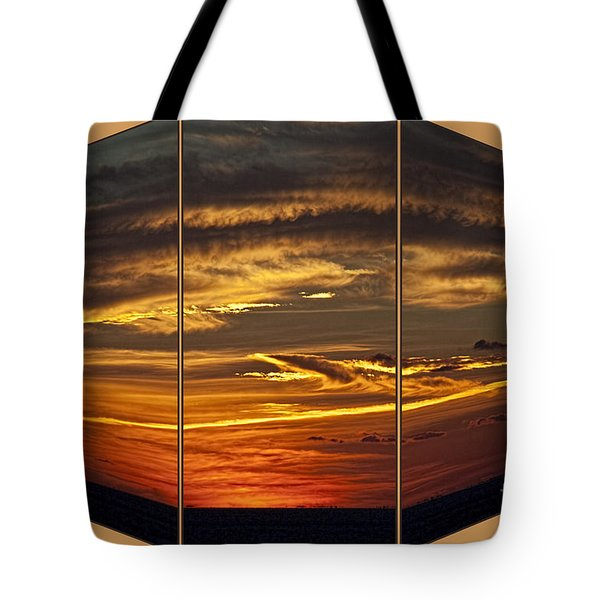 Tote Bag featuring the photograph Sunset Perspective by Shirley Mangini