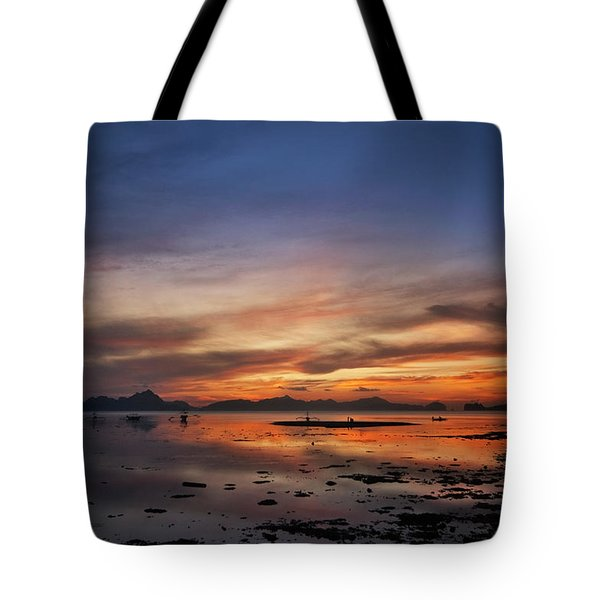Sunset Pi Tote Bag