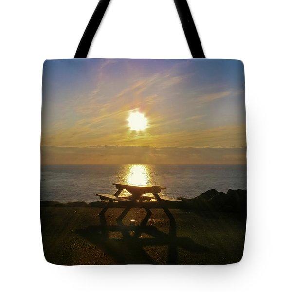 Sunset Picnic Tote Bag by Terri Waters