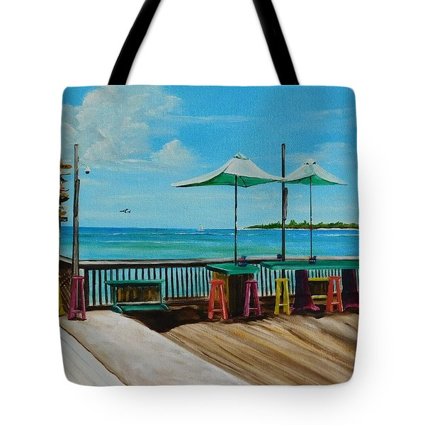 Sunset Pier Tiki Bar - Key West Florida Tote Bag