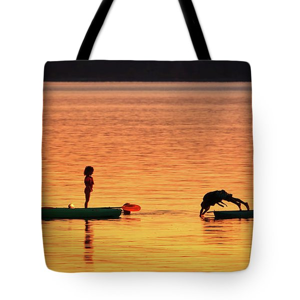 Sunset Play Tote Bag by Rick Lawler