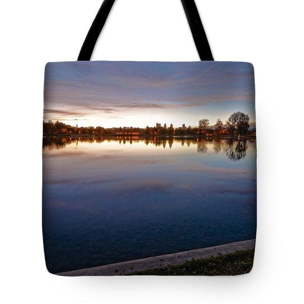 Sunset Pond Tote Bag