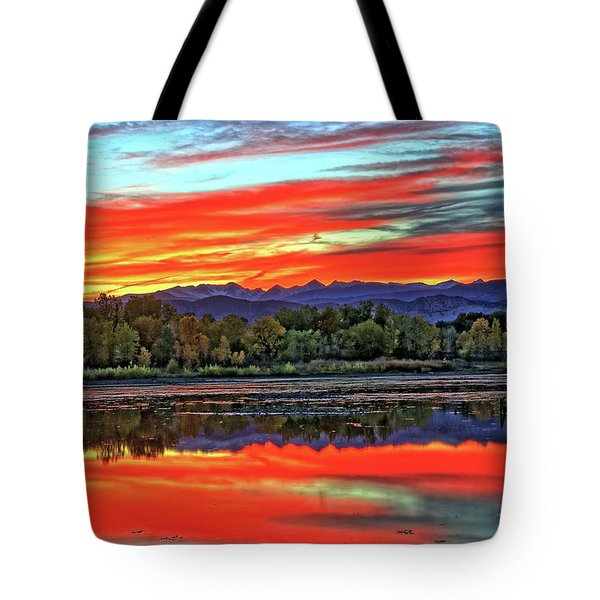 Tote Bag featuring the photograph Sunset Ponds by Scott Mahon