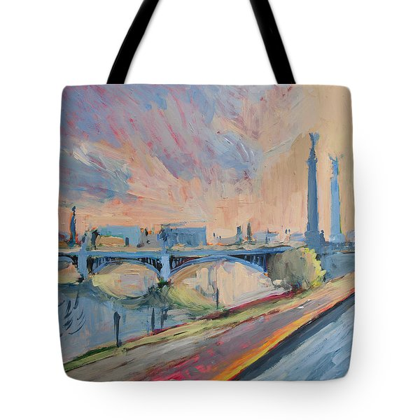 Sunset Pont Fragnee Tote Bag