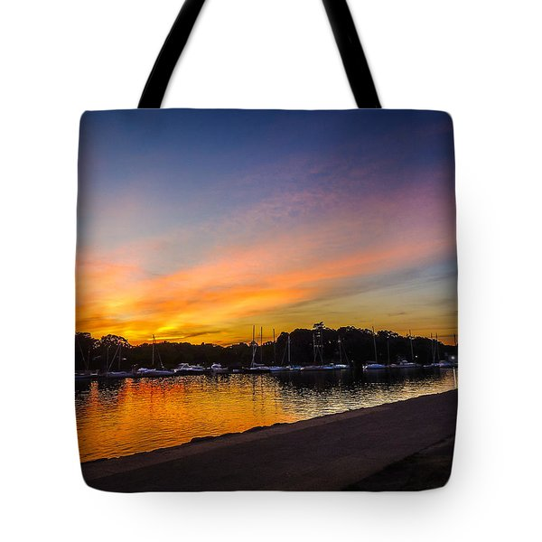Tote Bag featuring the photograph Sunset Promenade by Glenn Feron