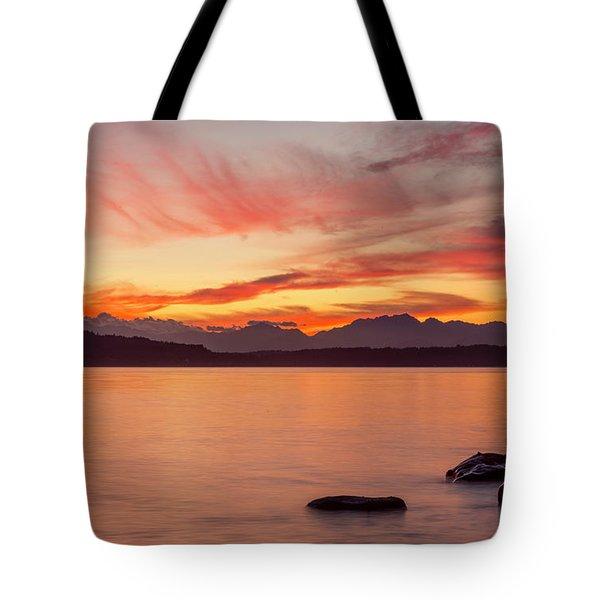 Sunset Puget Sound Tote Bag