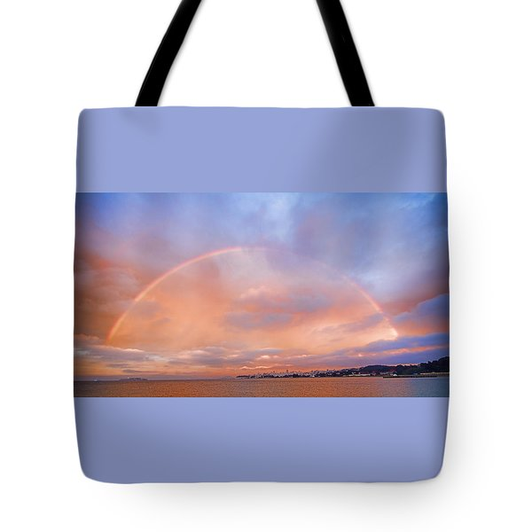 Tote Bag featuring the photograph Sunset Rainbow by Steve Siri