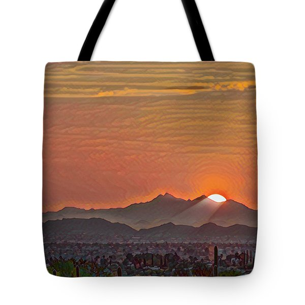 Tote Bag featuring the photograph Sunset Rays Remix by Dan McManus