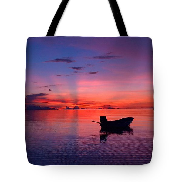 Sunset Rays Tote Bag