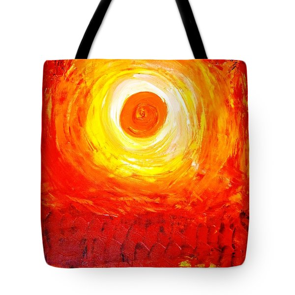 Tote Bag featuring the painting Sunset Red by Piety Dsilva