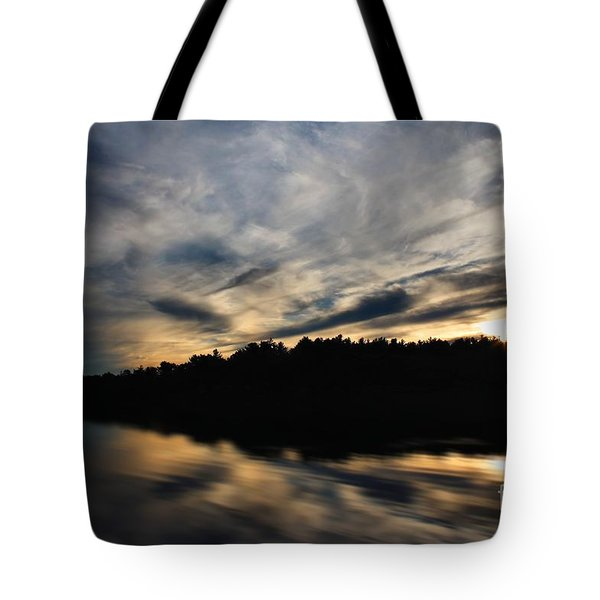 Tote Bag featuring the photograph Sunset Reflection by Kenny Glotfelty