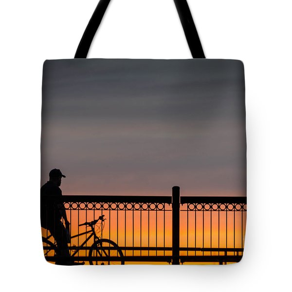 Sunset Reflection Tote Bag by Mike Ste Marie