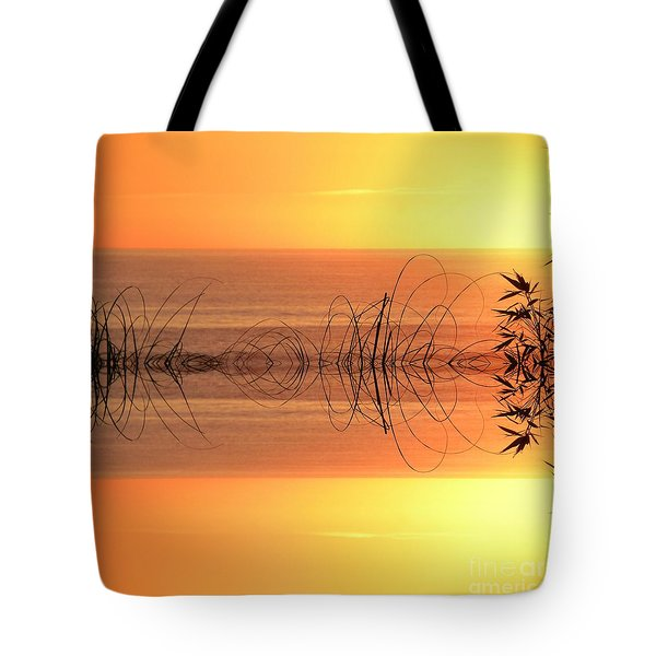 Sunset Reflection Tote Bag by Sheila Ping