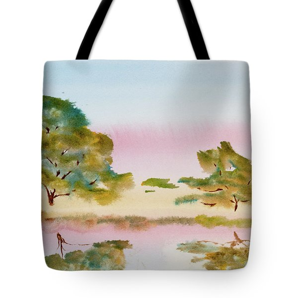 Reflections At Sunrise Tote Bag