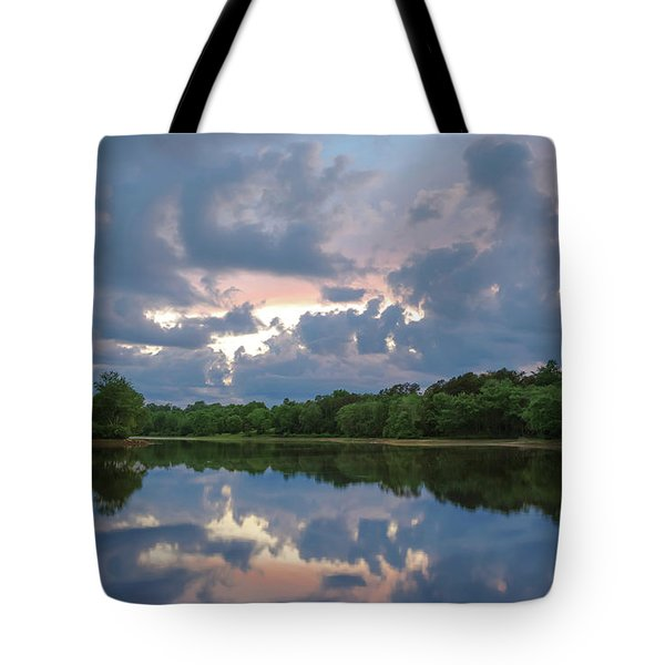 Tote Bag featuring the photograph Sunset Reflections by Lori Coleman