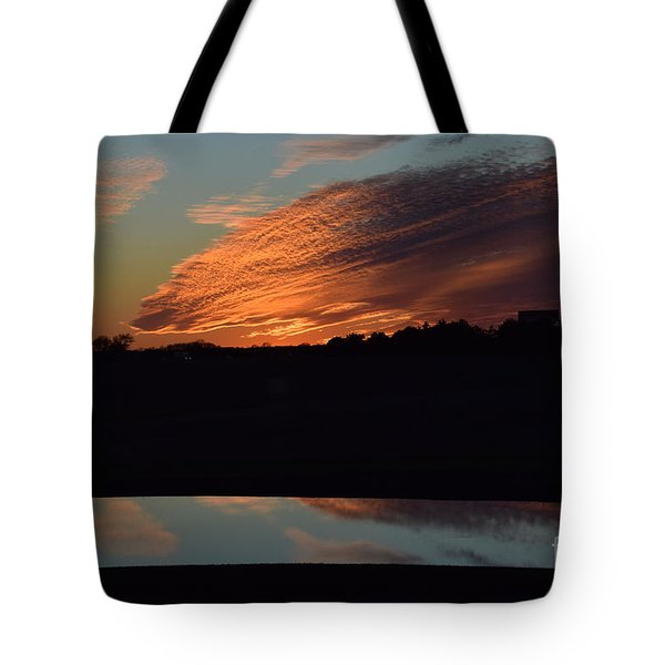 Tote Bag featuring the photograph Sunset Reflections by Mark McReynolds