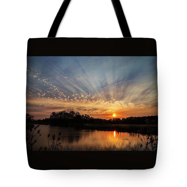 Sunset Refuge Tote Bag by Angie Vogel