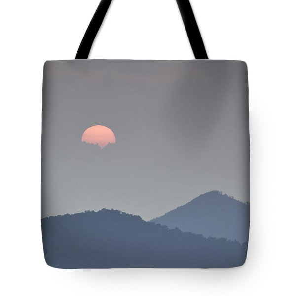 Sunset Repition - Blue Ridge Parkway Sunset Scene Tote Bag by Rob Travis