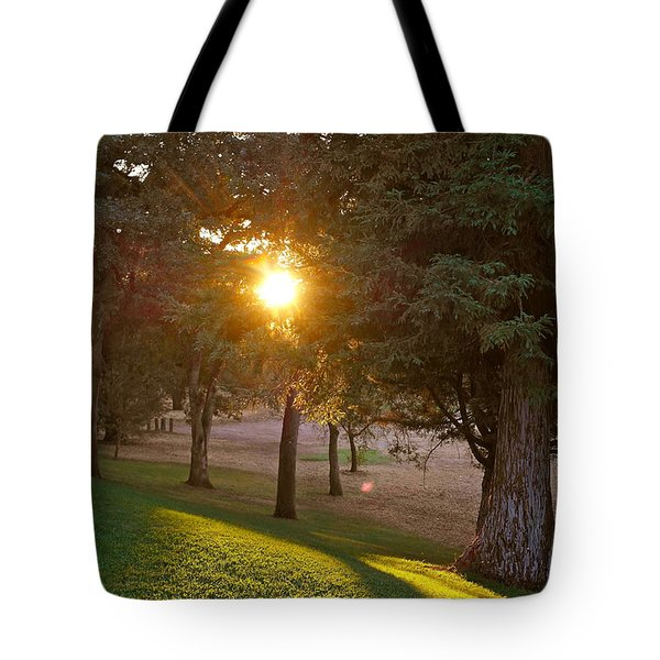 Sunset Retreat Tote Bag