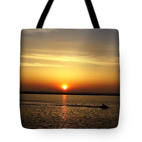 Sunset Ride Tote Bag