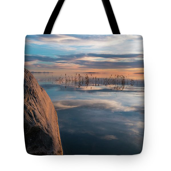 Sunset Rock Tote Bag by Justin Johnson