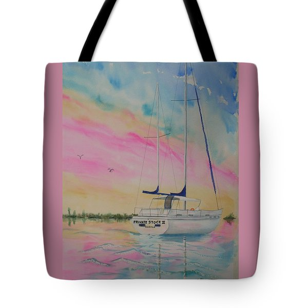 Sunset Sail 3 Tote Bag by Warren Thompson