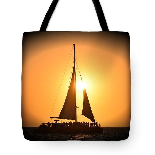 Sunset Sail Tote Bag by Gary Smith