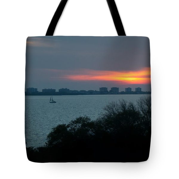 Sunset Sail On Sarasota Bay Tote Bag