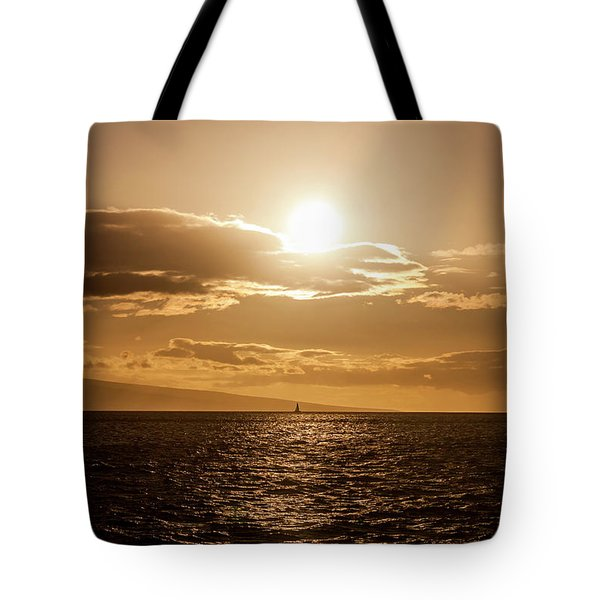 Sunset Sailboat Tote Bag