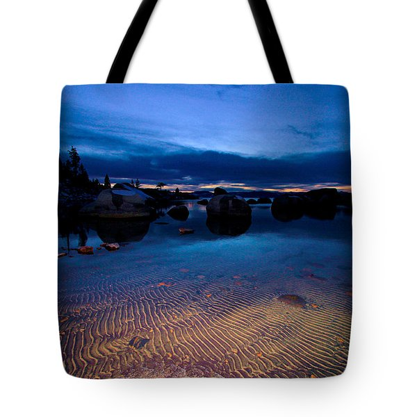 Sunset Sand Ripples Tote Bag by Sean Sarsfield