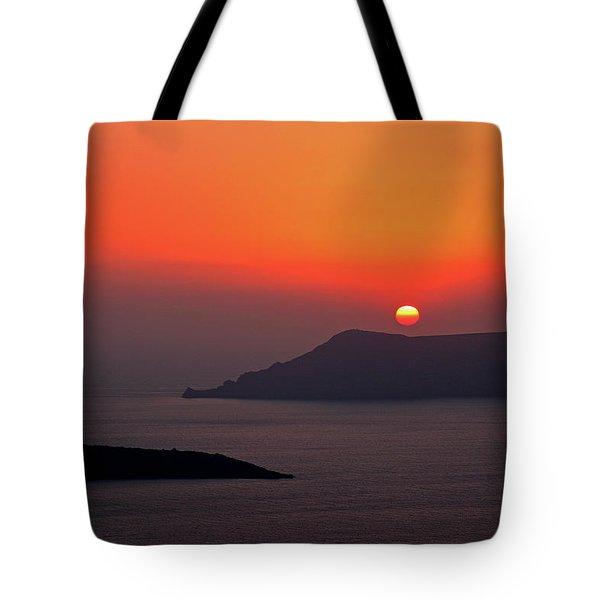 Sunset - Santorini, Greece Tote Bag