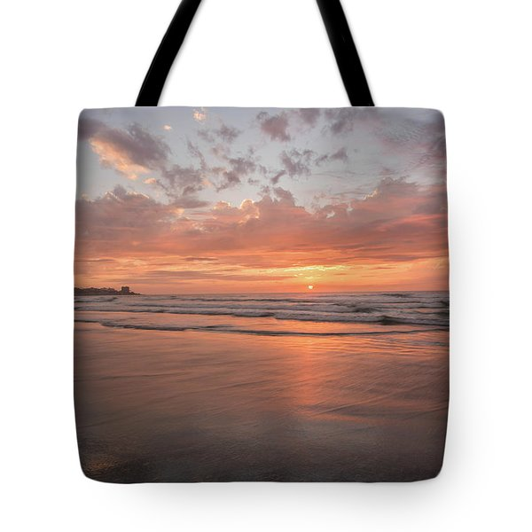 Sunset Scripps Beach Pier Img 5 La Jolla San Diego Ca Tote Bag