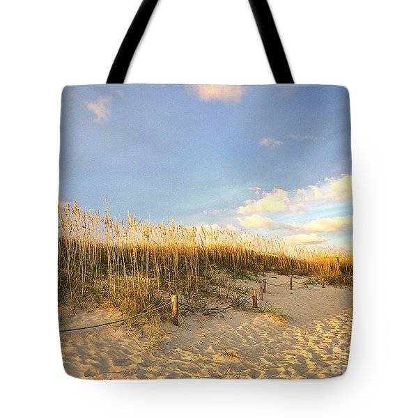 Sunset Sea Oats Tote Bag