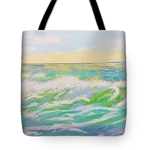 Sunset Seascape 6 Tote Bag by Judi Goodwin