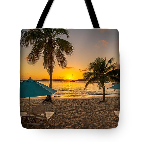 Sunset Secret Harbor Tote Bag