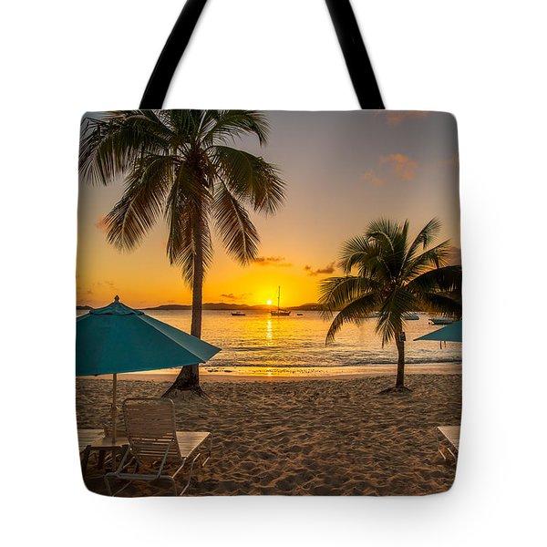 Sunset Secret Harbor Tote Bag