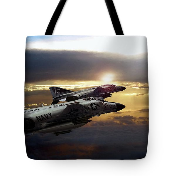 Sunset Section Tote Bag